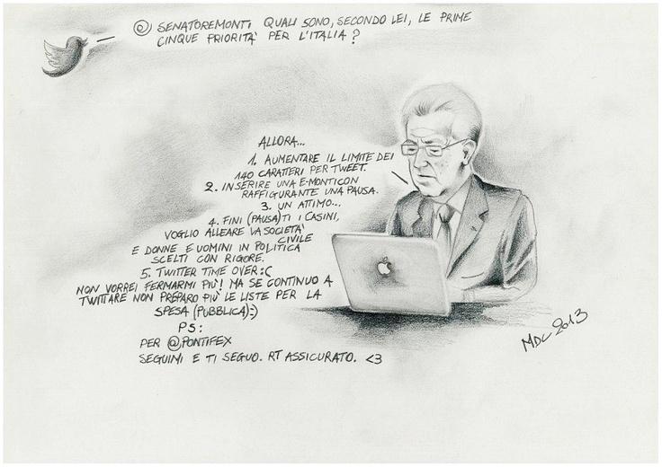 #VIGNETTA: #MontiLive, Mario #Monti su #Twitter
