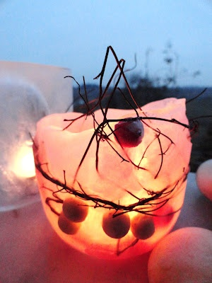 You can make candles with ice!