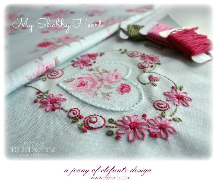 Looking for your next project? You're going to love My Shabby Heart stitchery - 2 ways by designer Elefantz.