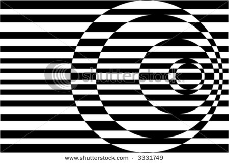 Op Art Contrasting Concentric Circles Black and Whiteshutterstock.com