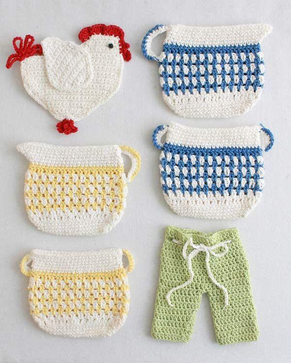 Old Fashioned Potholders Set 2 Crochet Pattern