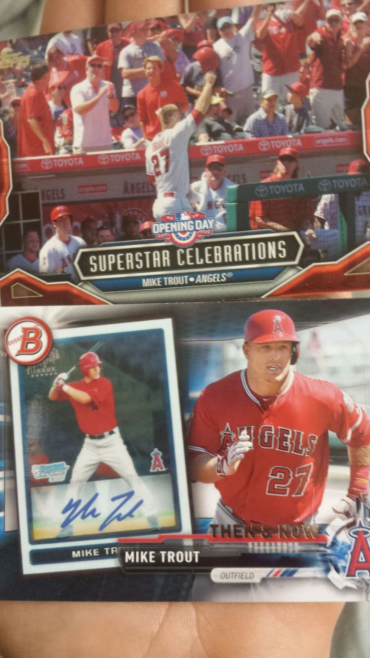 mike trout baseball cards value