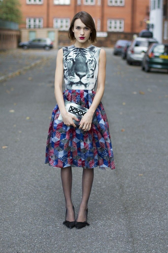 Ok, I could/would never pull this off, but I still like it/find the print mix interesting.