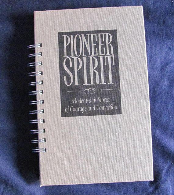 Recycled Vintage Book Pioneer Spirit Journal by VintageIntent