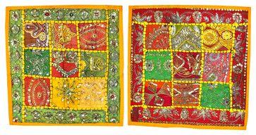 Sequin Embroidered Pillow Cover, Set of 2 asian-pillowcases-and-shams #cushion cover #boho pillowcase #throw #indian sham #home decor #designer pillow case #decoartive #home decor #sofa sushion cover
