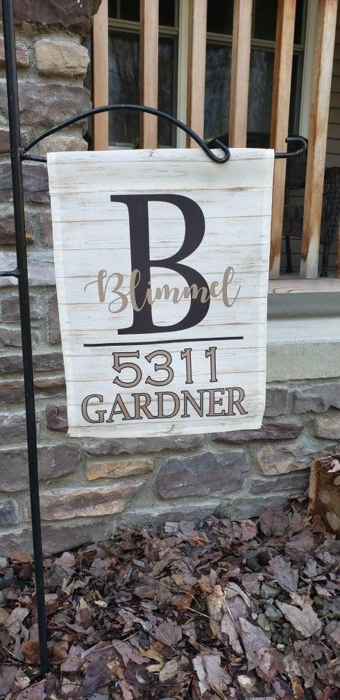 Address Garden Flag