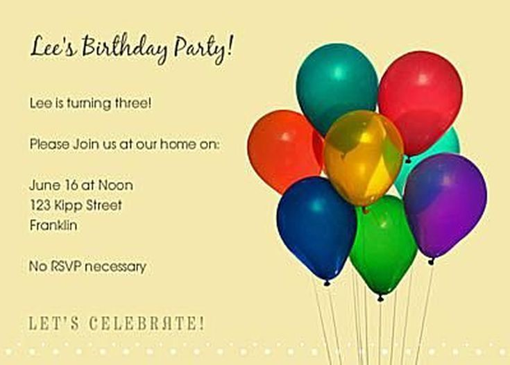 online birthday invitations