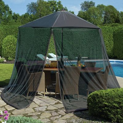 Bay Isle Home Tortuga Mosquito Net with Repellant Color: Black