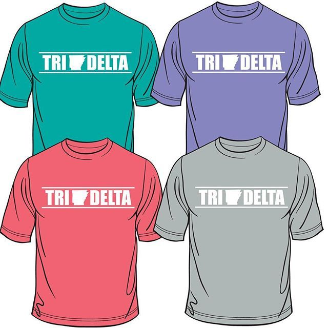 Classic Arkansas Tri Delta shirt now online on houndstooth