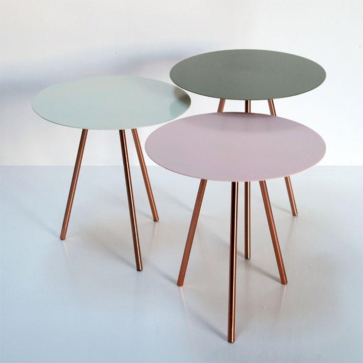 Tischgruppe Nesting 3erSet Pastellfarben von Au Maison