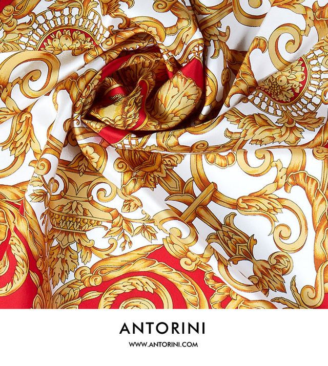 Garment: ANTORINI Luxury Silk Scarf in Red - ANTORINI - Trendtation