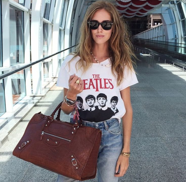 Chiara Ferragni's airport style is on point.