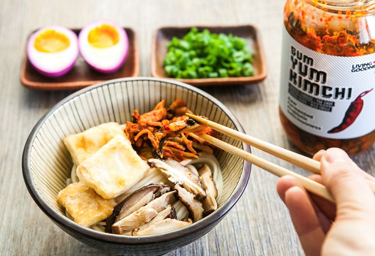 Fall has come. The days become a shorter and the evenings are cooler. What could be better for dinner than a bowl of warming ramen soup packed with flavors of a rich spicy stock, fried tofu, tangy kimchi and pickled egg? Yum! Start your preparations in advance. Pickled eggs process …