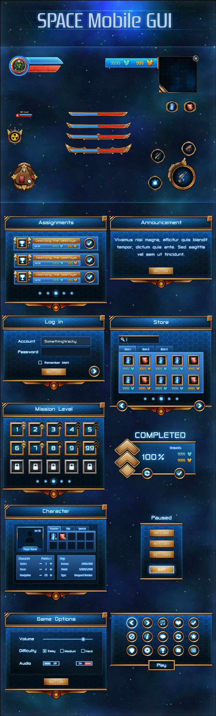 Space Mobile GUI by VengeanceMK1 on DeviantArt