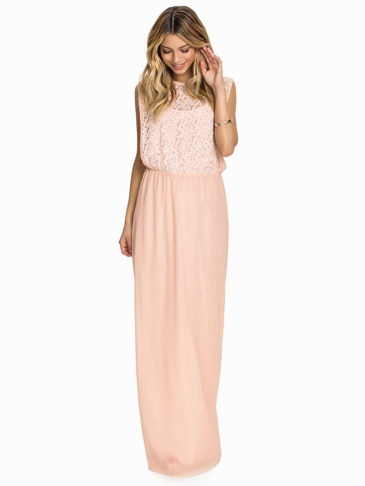 Crochet Pleated Dress - Club L - Nude Pink - Juhlamekot - Vaatteet - Nainen - Nelly.com