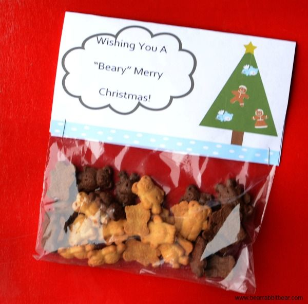 """Have a """"Beary"""" Merry Christmas Preschool Treat Printable - It Happens in a Blink"""