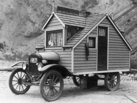 Ford T transformado en autocarabana en 1920's    #Automovilismo