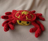 Ravelry: Cedric the African flower Crab pattern by aisha kenza