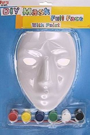Art Shed Online - Paint Your Own Mask, $2.65 (http://www.artshedonline.com.au/paint-your-own-mask/)