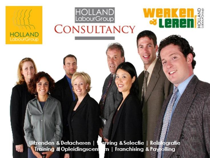 """De Holland Labour Group is specialist in Uitzenden, Detacheren, Werving & Selectie, Re-integratie, alsmede Werken & Leren trajecten. Wij leveren maatwerk in personeelsbemiddeling voor onder meer de metaal- en bouwsector, industrie, infra, ICT, gezondheidszorg, facilitaire en zakelijke dienstverlening.     Onze dienstverlening wordt op een heldere en succesvolle wijze ingevuld, ons motto is dan ook """"geen loze beloftes maar zeggen wat je doet en doen wat je zegt""""."""