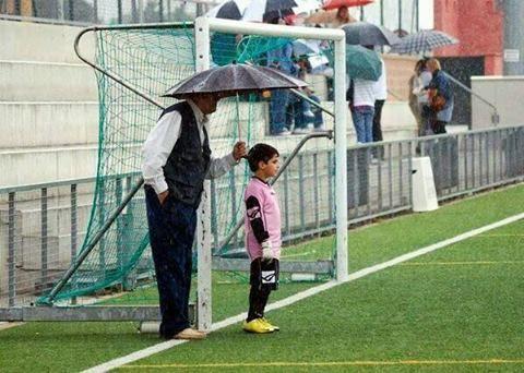 padre + hijo + futbol