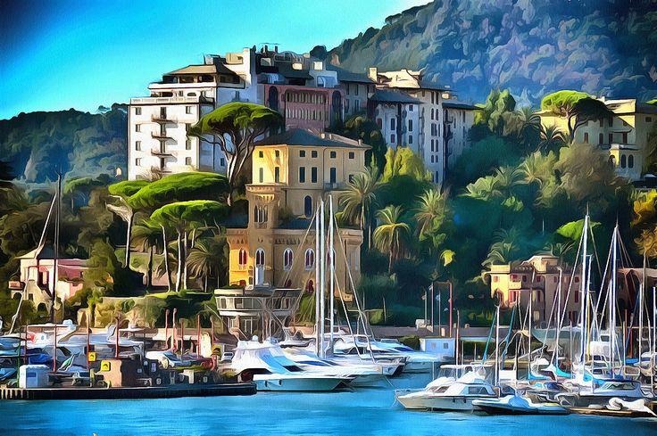 The Harbor in Rapallo, Liguria