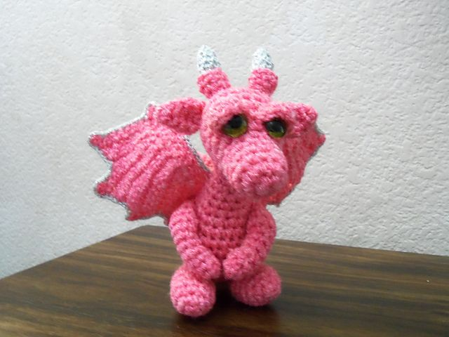 Amigurumi Dragon Wings Pattern : Ravelry: Project Gallery for Baby Snow Dragon pattern by ...