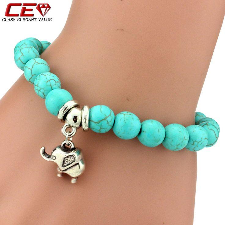 Fashion 10 Styles Silver Bracelets For Women Blue Resin Elastic Brand Bracelets & Bangles Pulseras Summer Fresh Fine Jewelry CEV