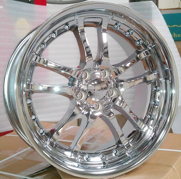 ALT Wheels 353 - 20 inch Chrome Rims and Tires Pkg