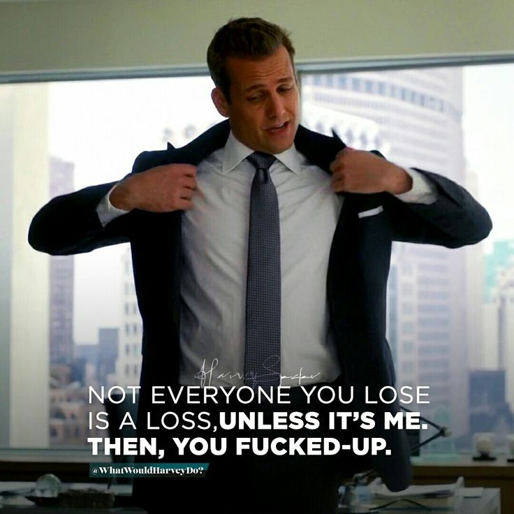 "Make this as your mindset, ""You don't lose people, people lose 'You' "". It's always lonely in the big leagues. Set 'em free. You have YOU! . . . #whatwouldharveydo #harveyspecter #motivationalquotes #gabrielmacht #badass #work #game #winner #hustle #hustl"