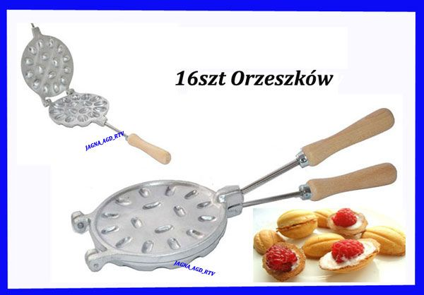 Patelnia Opiekacz Forma Orzechow Orzeszkow 16szt 5987243848 Oficjalne Archiwum Allegro Cocktail Strainer Meat Tenderizer Sweets