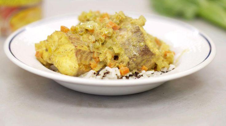 Gele curry met hondshaai, groenten en wilde rijst | Dagelijkse kost