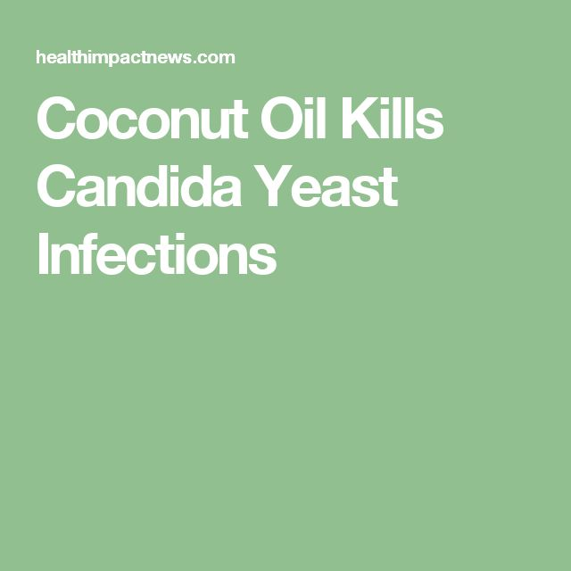 Coconut Oil Kills Candida Yeast Infections