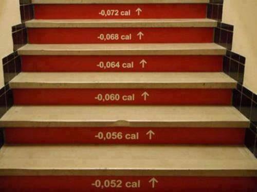 Escalier compte calories