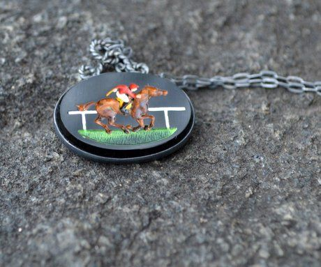 Horse and Jockey Necklace by Grainne Morton.