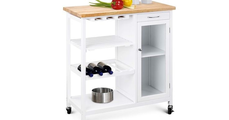 Buy Ovela Deluxe Rubberwood Top Kitchen Storage Trolley & Workbench from Kogan.com. Keep important ingredients and utensils within easy reach using this stylish rubberwood top trolley. Fill the storage compartments with vegetables, pasta, utensils and more Store wine glasses and up to 5 wine bottles in one convenient place Prepare food on the rubberwood counter top Add extra storage and bench space to your kitchen with the Ovela Deluxe Rubberwood Top Kitche....