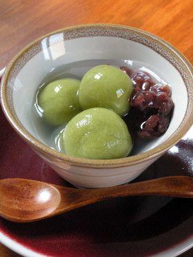 清涼感のある緑茶風味の白玉ぜんざい by 札幌在住の松島タツオ ...