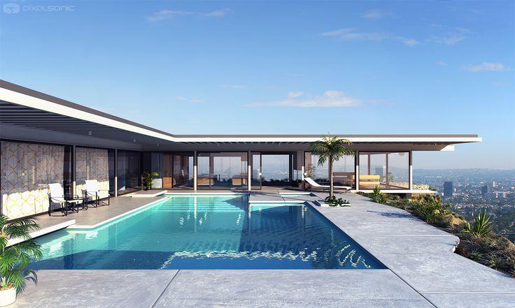Case Studi House 22, Stahl House in Los Angeles. Pierre Koening architect. Photo Julius Shulman.STUA Design Blog