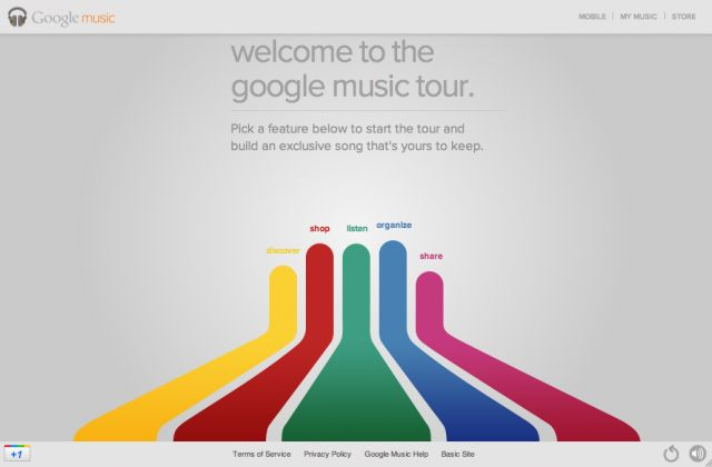 Google Music can host up to 20,000 of your songs . This snazzy micro site explains Google Music's features.