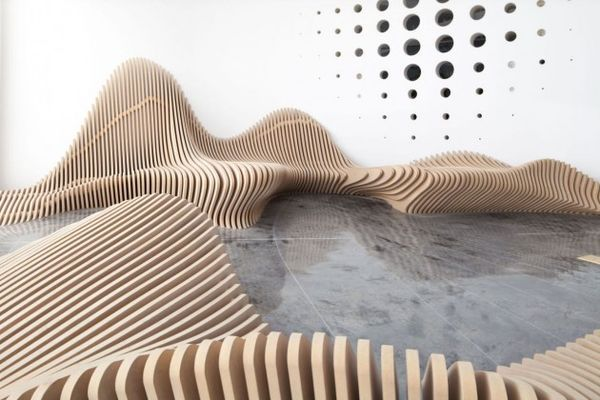 Sculptural Undulating Seating - The Benches by dEEP Architects Look Like Desert Sand Dunes (GALLERY)