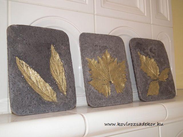 Hypertufa DIY, leaf casting, concrete, beton, Könnyűbeton, beton dekortárgyak | Kövirózsa Dekor