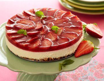 Lavkarbo-opskrift   Low Carb-opskrift   Jordbær-cheesecake
