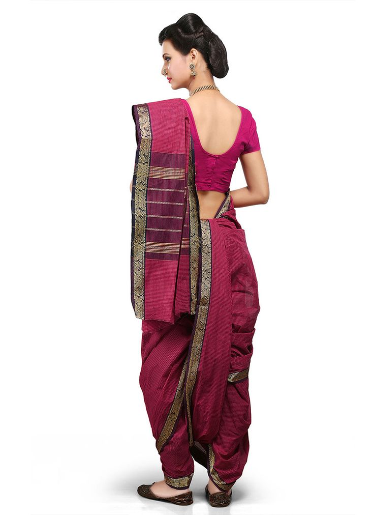 dark-pink-cotton-nauvari-saree.