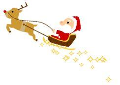 Santa Claus volando en su trineo por el blog   Ciudad Blogger - Trucos y tutoriales para tu blog
