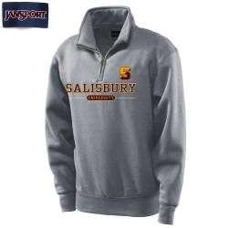 """JanSport Graphite Salisbury University Split """"S"""" 1/4 Zip"""