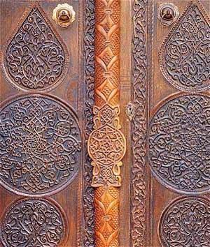 Mahmut Bey mosque door Konya Türkey