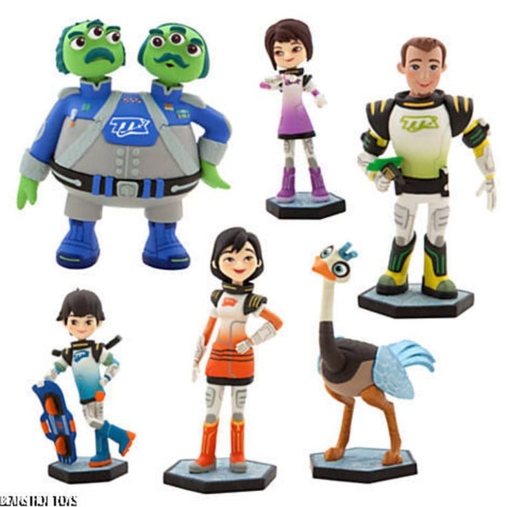 DISNEY STORE * Miles from Tomorrowland *  6 Figure Play Set   Cake Toppers #Disney