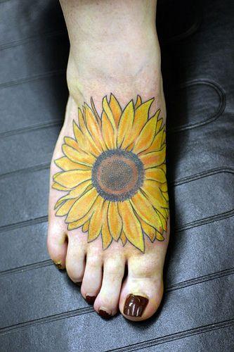 Sunflower Tattoo Designs   with sun flower tattoo on back sunflower tattoo on foot