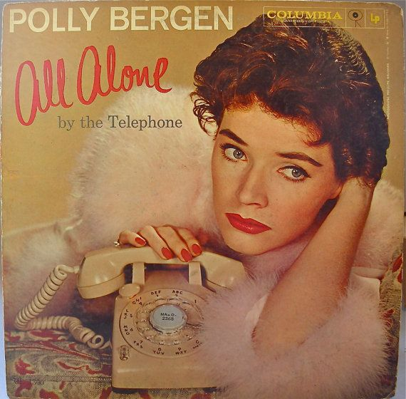 Polly Bergen All Alone By the Telephone 1961 by NetteArtVintage