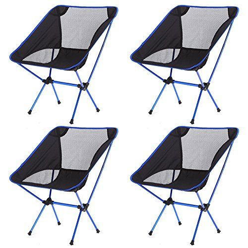 Minimalist Ultralight Floding Camping Outdoor Chair Premium Quality Aluminum Construction Portable Convenient Lightweight Dark Blue 4PCS Idea - Beautiful packable chair In 2019